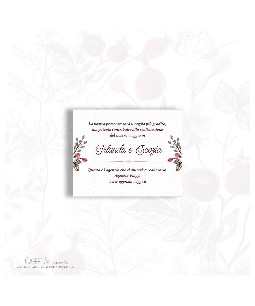 Partecipazioni Matrimonio Lista Nozze.Biglietto Lista Nozze Nelle Partecipazioni Stampa Bigliettini