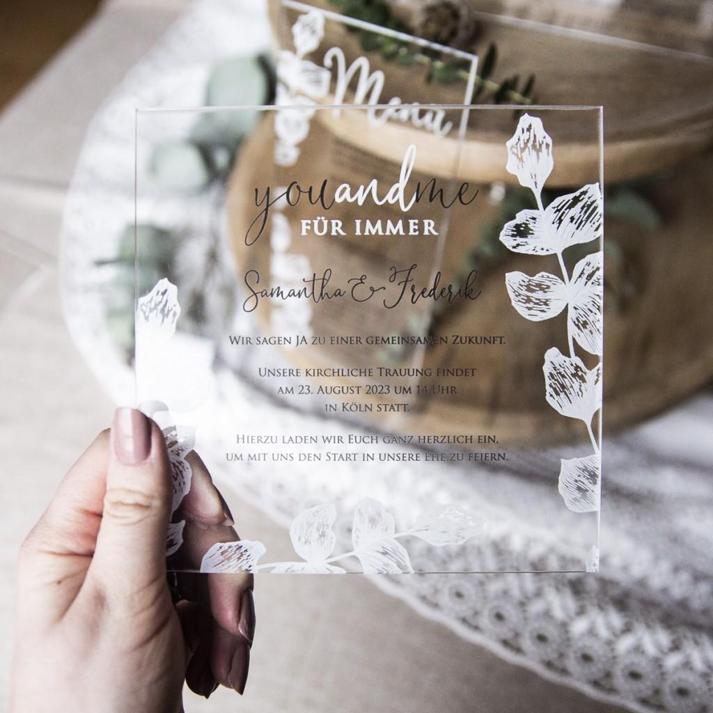 Bomboniere Matrimonio Koln.Partecipazioni In Plexiglass Si O No